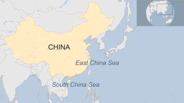 Map of the East and South China Seas