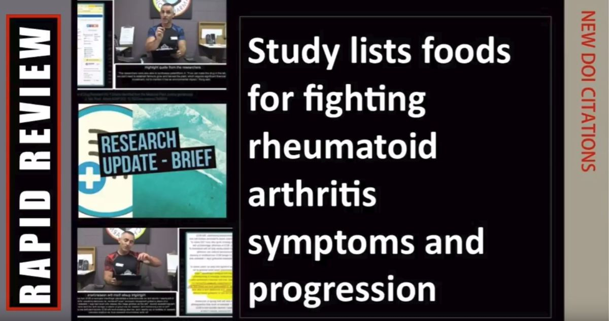Fighting rheumatoid arthritis symptoms and progression with a list of food items provenbeneficial